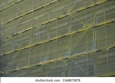 Sheffield / UK - March 31 2019: Construction work at Park Hill, Sheffield
