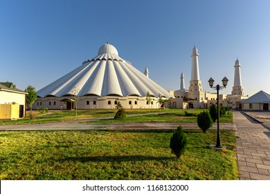 Sheikh Khalifa Mosque known also as Al Nahyan Mosque in Shymkent, Kazakhstan.