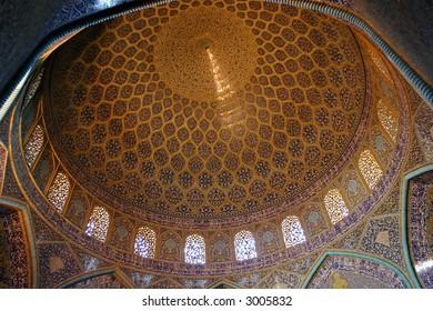 Sheikh Loft Allah Mosque dome in Isfahan, Iran