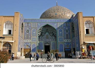 Sheikh Loft Allah Mosque in Isfahan, Iran