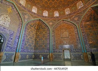 Sheikh Lutfollah Mosque in Isfahan, October 5, 2014, Iran