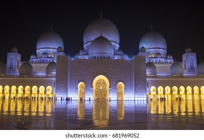 Sheikh Zayed Grand Mosque At Night, A photo taken at Abu dhabi, United Arab Emirates