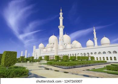 Sheikh Zayed mosque in Abu Adabi city