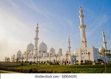 Sheikh Zayed Mosque at Abu-Dhabi, UAE, Uniter Arab Emirates