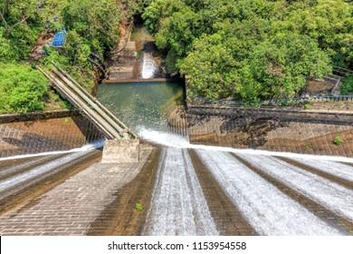 Shek Lei Pui Reservoir (Kowloon Reservoir) In Hong Kong