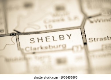 Shelby. Illinois. USA on a geography map