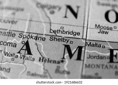 Shelby. USA on a geography map