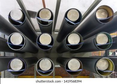 Shelf Full of Anilox Rolls