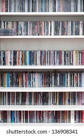 shelf lull of cds