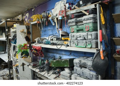 Shelf with tools
