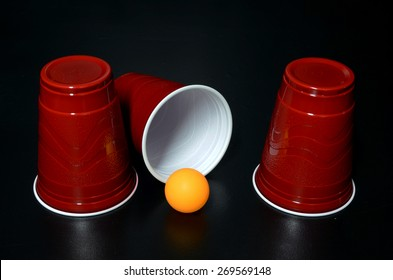 Shell Game with Cup tipped over