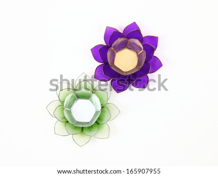 Shell Lotus Flower Candle Holders Intimate Moments Stock Photo Edit
