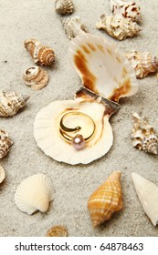 shell with pearl ring