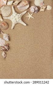 Shell, Sand, Beach.