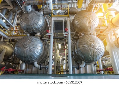 Shell and tube heat exchanger type in oil and gas central processing platform to heat crude oil temperature before sent to condensate stabilizer to increase performance of system.