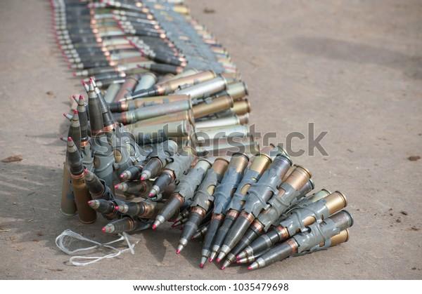 Shells Strips Russian 30mm Gun 2a42 Stock Photo (Edit Now