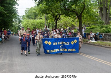 """Shelton, CT, USA - May 25, 2015: The individuals are some of the many participants at the """"Memorial Day Parade"""" held on May 25, 2015 in Shelton, Connecticut, USA"""