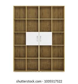 Shelving isolated on white background. 3D rendering.