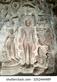 Shen style gods statues are in Ellora cave India