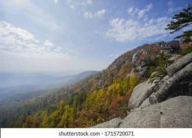 Shenandoah National Park Old Rag Mountain Landscape View Autumn Foliage and Rocks