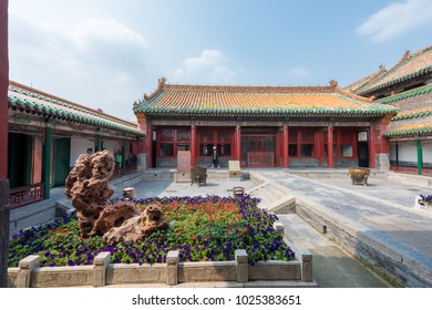 Shenyang,China- June 28,2016:Inside view of The small Palaces of Shenyang Imperial Palace (Mukden Palace), UNESCO world heritage of China.