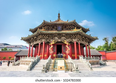 Shenyang,China- June 28,2016:The Dazheng Hall at Shenyang Imperial Palace, the only existing royal palace in China outside of the Forbidden City in Beijing,located at  Shenyang City.