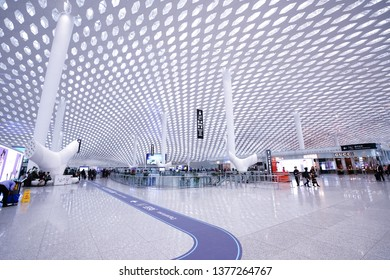 SHENZEN, CHINA - DEC 10, 2018: Shenzhen Bao'an International Airport. It is one of the three largest airport hubs serving the Pearl River Delta urbanised area in southern China.