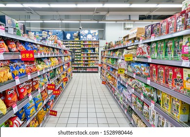 SHENZHEN, CHINA - CIRCA APRIL, 2019: goods on display at Carrefour Le Marche supermarket in Shenzhen.