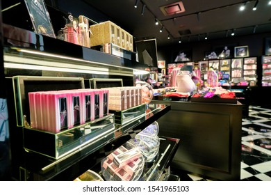 SHENZHEN, CHINA - CIRCA APRIL, 2019: goods on display at Victoria's Secret store in Shenzhen Bay shopping mall.