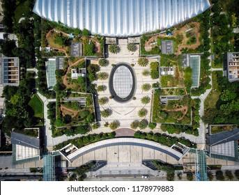 Shenzhen China drone skyscrapers