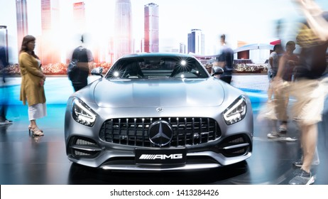 Shenzhen, China - June 1, 2019: 2020 Mercedes-AMG GT Coupe at 2019 International Auto Show in Shenzhen, China.