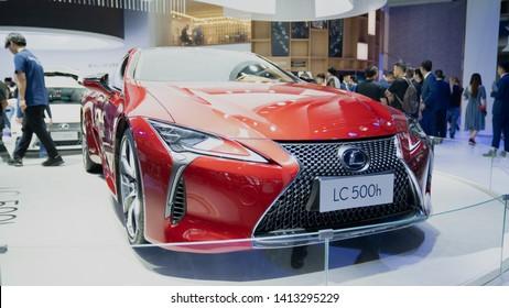 Shenzhen, China - June 1, 2019: 2020 Lexus LC 500h at 2019 International Auto Show in Shenzhen, China.