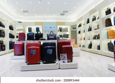 SHENZHEN, CHINA-APRIL 13: Samsonite shop on April 13, 2014 in Shenzhen, China. ShenZhen is regarded as one of the most successful Special Economic Zones.
