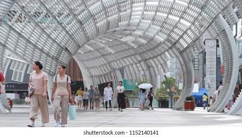 Shenzhen city, China, 06 July 2018:- Shenzhen city street