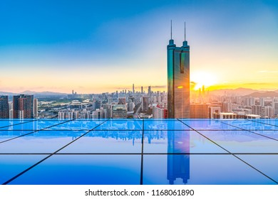 Shenzhen City Scenery and Technology Concept