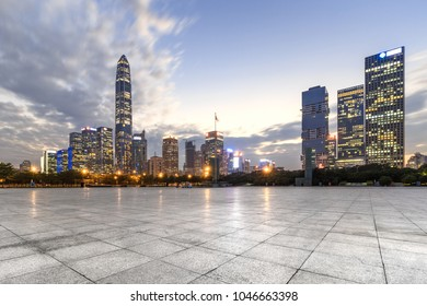 Shenzhen downtown no one square and skyscrapers