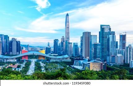Shenzhen Lianhuashan Civic Center City Prosperity
