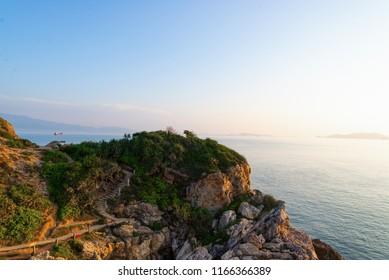 Shenzhen morning no one seaside scenery