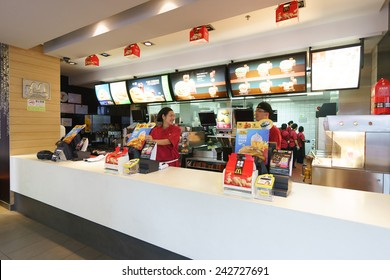 SHENZHEN - NOV 06: McDonald's restaurant on November 06, 2014 in Shenzhen, China. The McDonald's Corporation is the world's largest chain of hamburger fast food restaurants