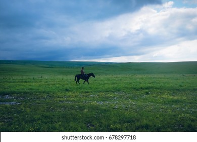 shepherd on mountain meadow
