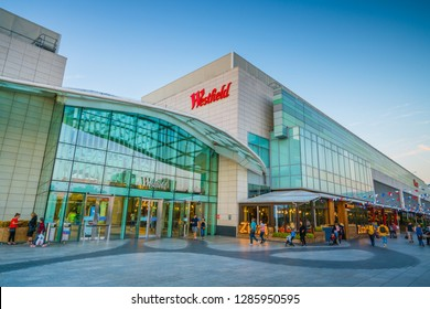 SHEPHERDS BUSH, LONDON- OCTOBER 2018: Westfield Shopping Centre in Shepherds Bush. Large scale indoor retail centre with many high street and luxury chains