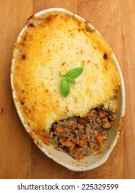 Shepherds pie baked fresh from the oven.