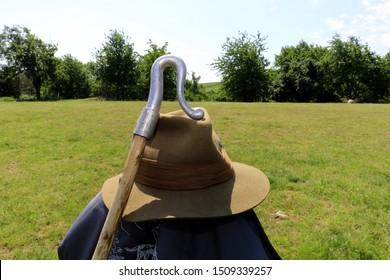 Shepherd's staff and shepherd's hat