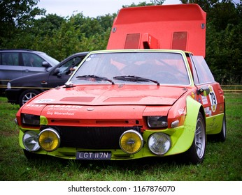Shere, Surrey/ UK - 03 09 2017: Fiat x19 Abarth Prototipo with engine cover open