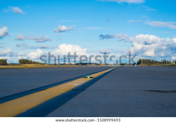 Sheremetyevo Airport (SVO),Moscow Region, Russia - 19 September, 2019: Aeroflot first landed on a new runway at 16.20 Moscow time-flight SU 019 St. Petersburg-Moscow.