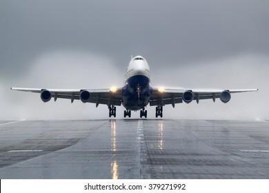 SHEREMETYEVO, MOSCOW REGION, RUSSIA - SEPTEMBER 22, 2009: Transaero Boeing 747-300 VP-BGX taking off at Sheremetyevo international airport.