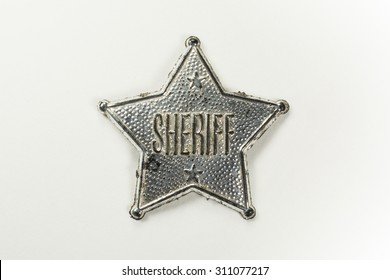 Sheriff Badge Isolated on White Background (with clipping path)