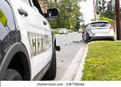 Sheriff investigates serious car crash on street