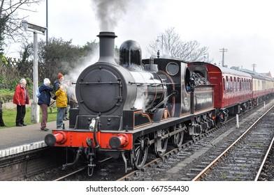 SHERINGHAM, NORFOLK/UK - February 27, 2009. L&YR loco 1300, built