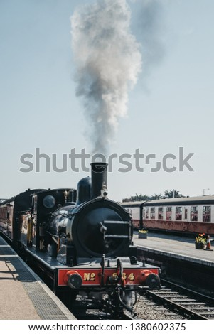 Sheringham UK April 21 2019 Steam Stock Photo (Edit Now